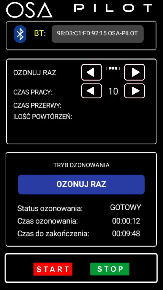 aplikacja mobilna ozonator